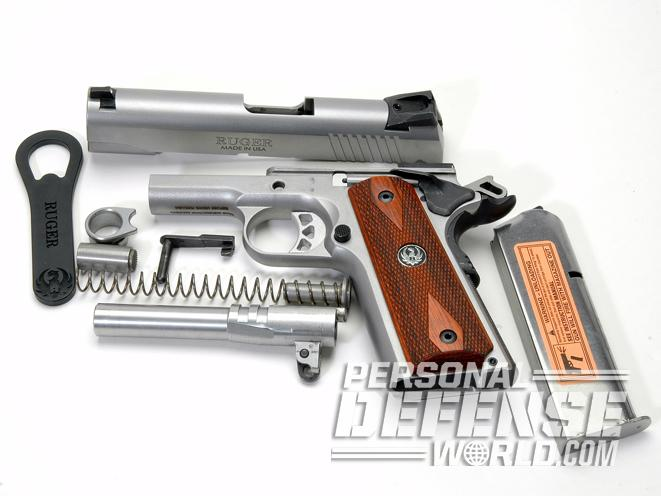 Ruger SR1911 Commander, ruger, ruger SR1911, SR1911CMD, RUGER SR1911CMD disassembled