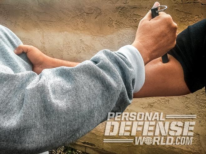 The Kubotan, kubotan, kubotan self-defense, self-defense weapon, kubotan arm attack