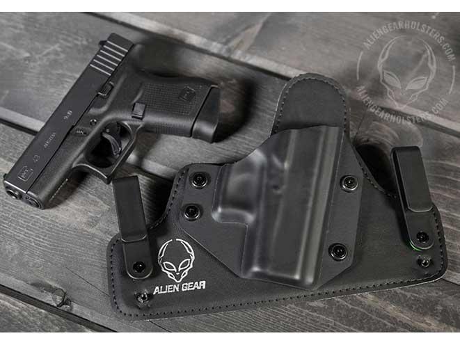 alien gear, alien gear holsters, alien gear glock 43, alien gear holsters glock 43, glock 43, glock 43 holster option
