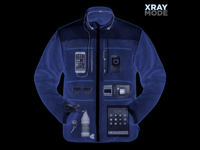 SCOTTeVEST Ultimate Pocket Fleece, SCOTTeVEST, SCOTTeVEST x-ray