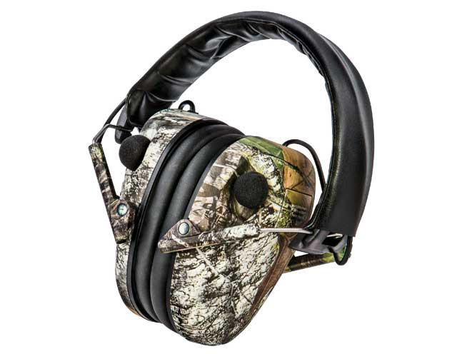 ear, earmuffs, hearing protectors, earplugs, caldwell e-max mossy oak
