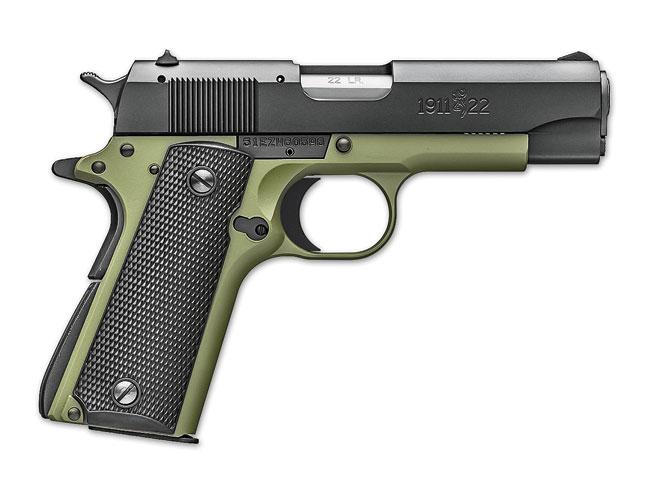rimfire, rimfires, compact rimfire handguns, compact rimfire handgun, rimfire handgun, rimfire handguns, browning 1911-22 A1 olive drab green compact
