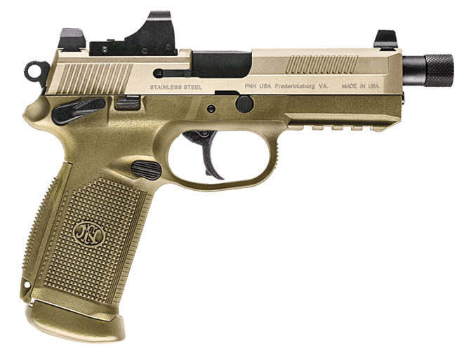 threaded barrel, threaded barrel pistol, threaded barrel pistols, FNX-45 Tactical