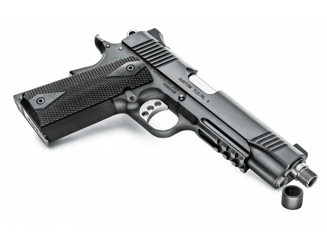 threaded barrel, threaded barrel pistol, threaded barrel pistols, Kimber Custom TLE/ RL II (TFS)
