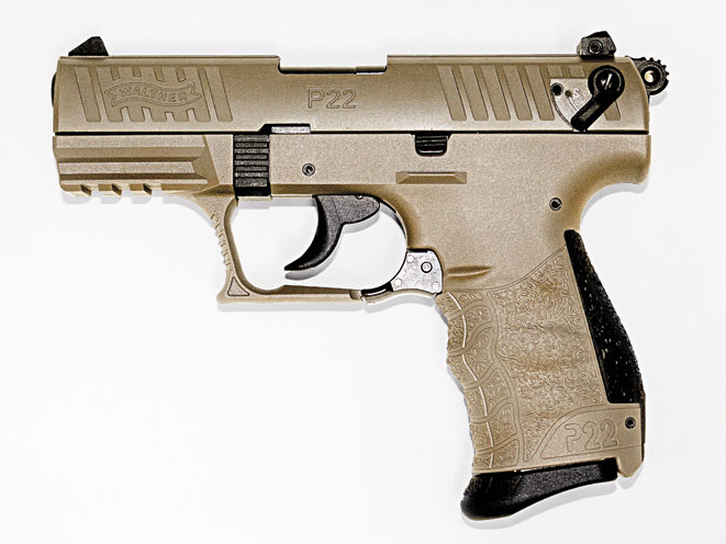 The Walther P22 is a lightweight.22 LR semi-auto that can be used for low-cost tactical training.