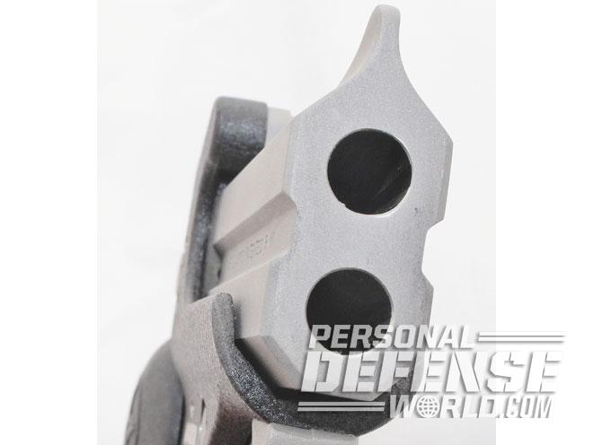 Bond Arms Backup, bond arms, bond arms backup derringer, derringer, bond arms backup barrel close up