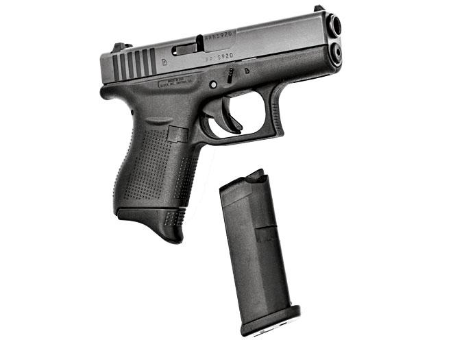 glock, glock 43, glock 43 holsters, glock 43 holster, glock 43 accessories, pearce grip glock 43 grip frame
