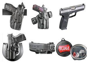 combat handguns, flugz, kahr, kahr c-series, MTR holster, blackhawk serpa, heinie glock sights, safariland holster