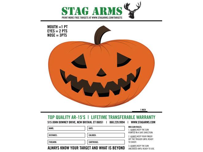 Stag Arms, Stag Arms target, Stag Arms printable target, stag arms joyful jack-o-lantern