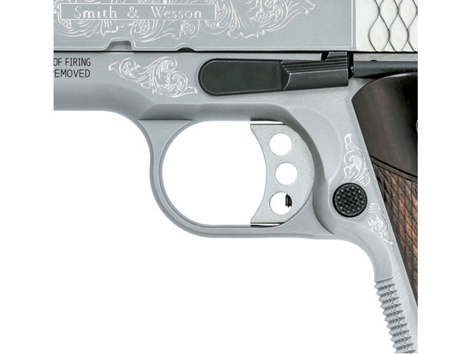 Smith & Wesson, SW1911, smith & wesson SW1911, engraved SW1911, smith & wesson engraved SW1911, SW1911 trigger