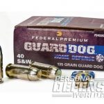 defensive handgun ammo, handgun ammo, ammo, ammunition, handgun ammunition, federal premium guard dog