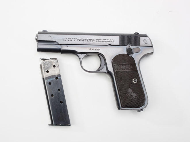 colt, colt pocket hammerless, pocket hammerless, pocket hammerless model 1903, pocket hammerless model 1908, pocket hammerless 1903, pocket hammerless 1908, colt general officer's pistol, colt general officer's pistols, colt douglas macarthur model 1903
