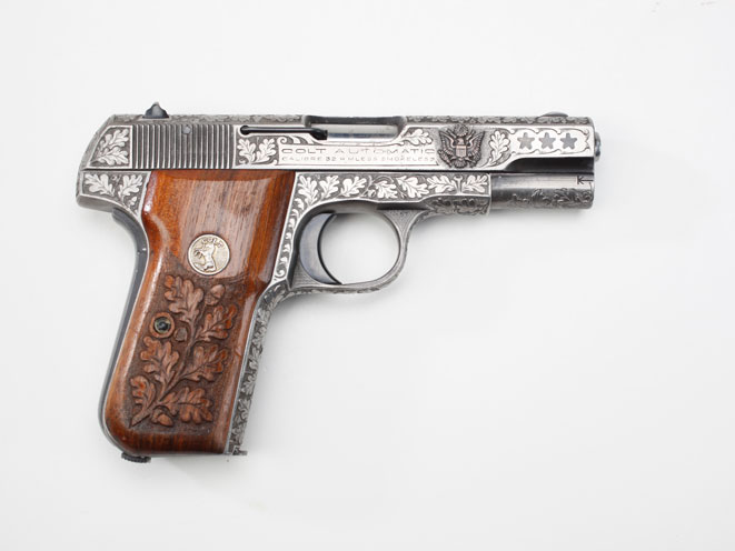 colt, colt pocket hammerless, pocket hammerless, pocket hammerless model 1903, pocket hammerless model 1908, pocket hammerless 1903, pocket hammerless 1908, colt general officer's pistol, colt general officer's pistols, colt frank mildren model 1903 gun