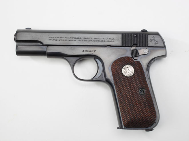colt, colt pocket hammerless, pocket hammerless, pocket hammerless model 1903, pocket hammerless model 1908, pocket hammerless 1903, pocket hammerless 1908, colt general officer's pistol, colt general officer's pistols, colt isaac white model 1908