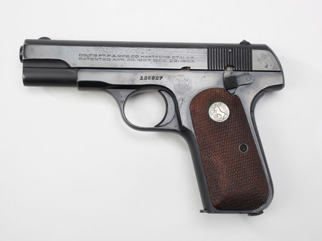 colt, colt pocket hammerless, pocket hammerless, pocket hammerless model 1903, pocket hammerless model 1908, pocket hammerless 1903, pocket hammerless 1908, colt general officer's pistol, colt general officer's pistols, colt isaac white model 1908 pistol