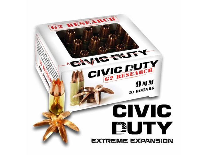 g2 research, g2 research civic duty, civic duty ammo, g2 research civic duty ammunition