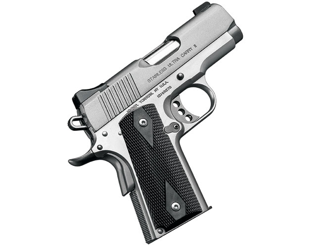 pistols, pistol, 1911 pistol, 1911 pistols, concealed carry, concealed carry pistol, concealed carry pistols, Kimber Stainless Ultra Carry II