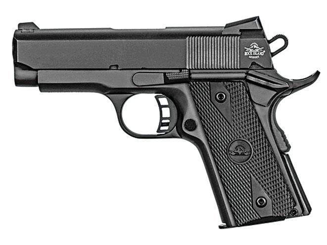 pistols, pistol, 1911 pistol, 1911 pistols, concealed carry, concealed carry pistol, concealed carry pistols, Rock Island Armory Rock Standard CS