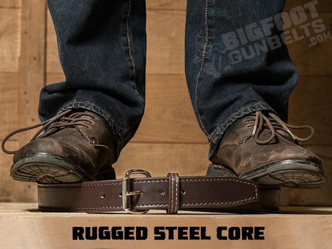 Bigfoot Gun Belts, gun belt, gun belts, bigfoot gun belt brown