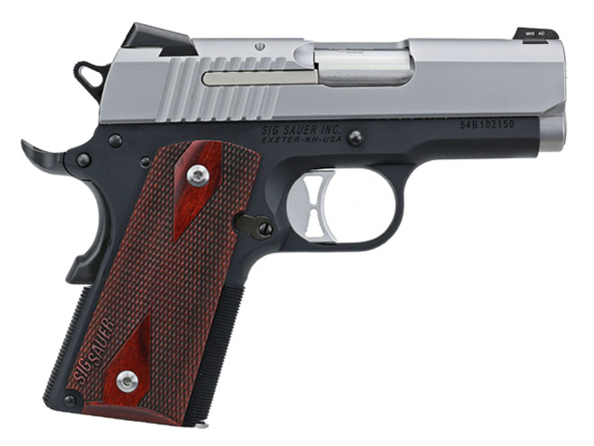 pistols, pistol, 1911 pistol, 1911 pistols, concealed carry, concealed carry pistol, concealed carry pistols, Sig Sauer 1911 Traditional Ultra
