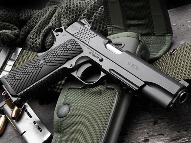 pistols, pistol, full-size pistol, full-size pistols, full-sized pistol, full-sized pistols, Wilson Bravo BCM Gunfighter 1911 .45 ACP