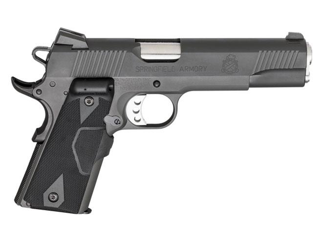 springfield, springfield armory, 1911 loaded, 1911 loaded parkerized pistol, springfield armory pistol