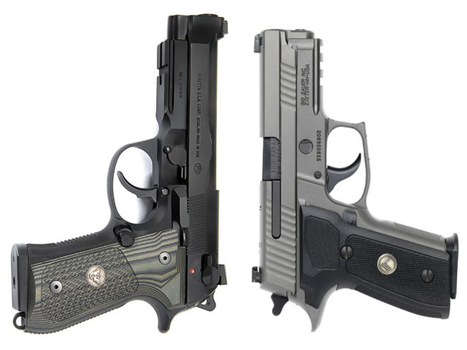 2 factory custom guns by wilson combat beretta sig sauer