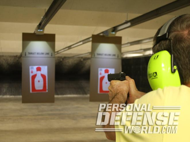 Colonial Shooting Academy, Colonial Shooting Academy range, handguns