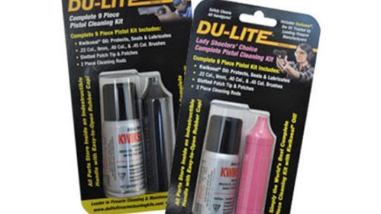du-lite, complete 9 piece pistol cleaning kit, du-lite complete pistol cleaning kit, du-lite firearm cleaning kit