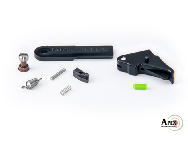 apex, apex tactical specialties, apex trigger kit, apex trigger kits, smith & wesson, smith & wesson m&p shield, m&p shield, Apex Shield Duty/Carry Flat-Faced Action Enhancement Trigger & Kit