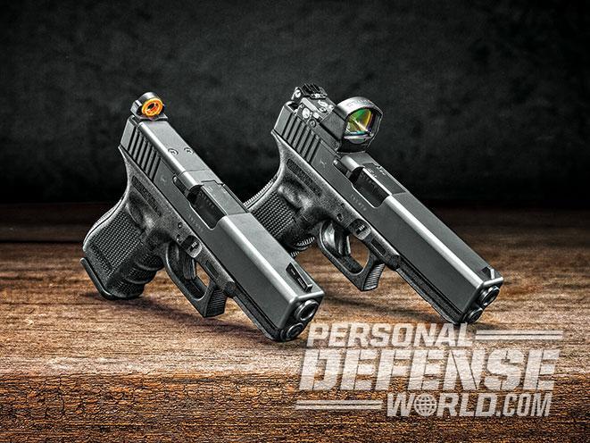 glock, glock mos, glock 17, glock 17 gen4 mos, glock 19 gen4 mos, glock pistol, glock pistols