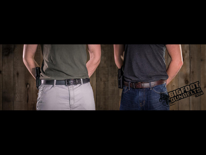 bigfoot gun belts, bigfoot gun belt, gun belt, gun belts, gun holster, gun holsters, leather gun belt