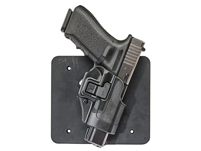 gun, gun safe, gun safes, safe, safes, gun vault, gun holster, Gun Storage, GlockStore Under Desk Concealment Plate