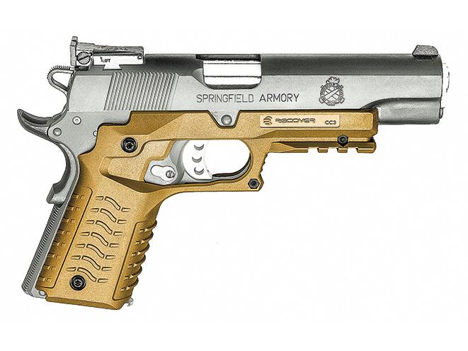 1911, 1911 pistol, grip, grips, gun grip, gun grips, aftermarket grip, aftermarket grip panels, grip panel, grip panels, Recover Tactical CC3H Grip & Rail System