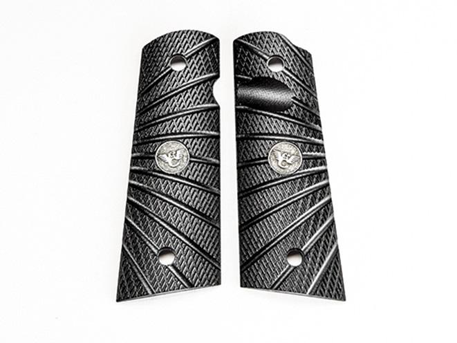 1911, 1911 pistol, grip, grips, gun grip, gun grips, aftermarket grip, aftermarket grip panels, grip panel, grip panels, Wilson Combat G10 Starburst Grips