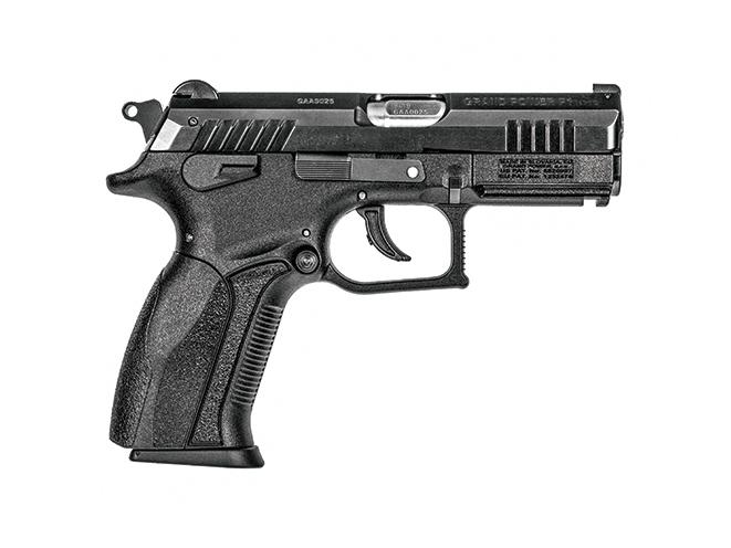 pistol, pistols, locked-breech, locked breech, locked-breech pistol, locked-breech pistols, rotary barrel pistol, rotary barrel pistols, rotary-barrel, rotary-barrel pistol, rotary-barrel pistols, Grand Power P1