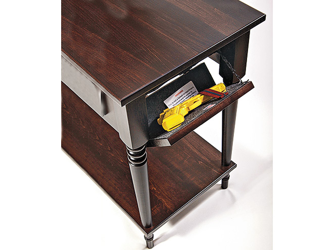 gun, gun safe, gun safes, safe, safes, gun vault, gun holster, Gun Storage, Secret Compartment Furniture Bedside Table