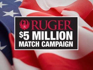 ruger, nra, nra-ila, $5 million match campaign
