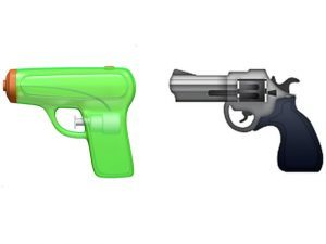gun emoji, handgun emoji, apple handgun emoji, apple gun emoji