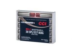 CCI, CCI Ammunition, cci big 4, big 4 handgun shotshell, handgun shotshell