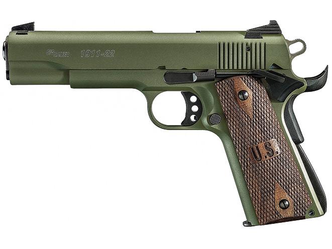 rimfire, rimfires, rimfire pistol, rimfire pistols, Sig Sauer 1911-22