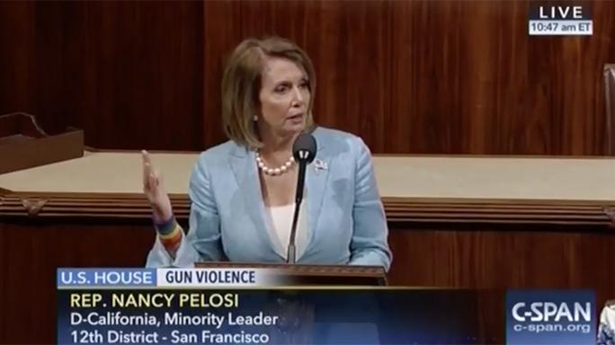 House Democrats Gun Vote 2016 Nancy Pelosi