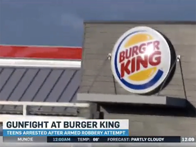 burger king robbery, good guy with a gun, armed robbery, armed robber