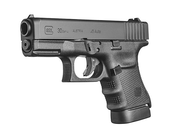 pistol, pistols, subcompact pistol, subcompact pistols, Glock 30 Gen4