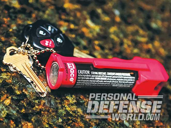 pepper spray keychain