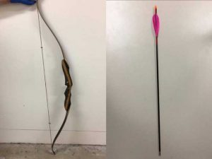 australia shooting bow and arrow