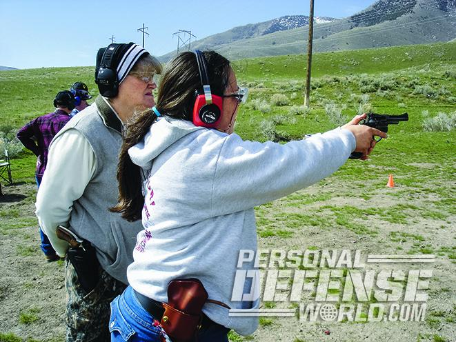 full-size handgun range training