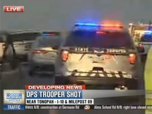 arizona trooper shot by armed suspect