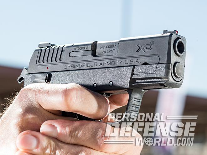 Springfield XDE pistol close up