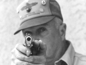 Jeff Cooper aiming gun